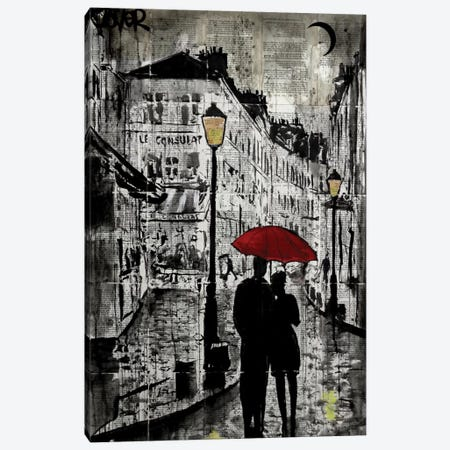 Rainy Promenade Canvas Print #LJR141} by Loui Jover Canvas Artwork