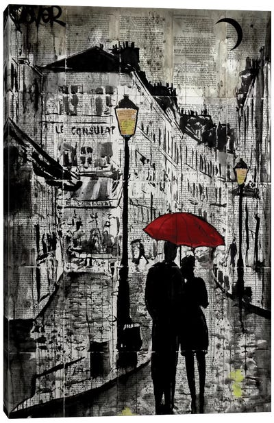 Rainy Promenade Canvas Art Print