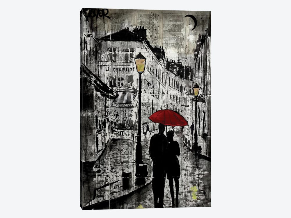 Rainy Promenade by Loui Jover 1-piece Canvas Art Print