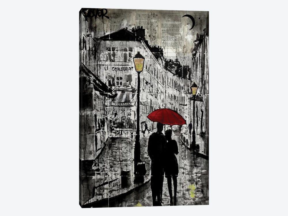 Rainy Promenade by Loui Jover 1-piece Canvas Art Print