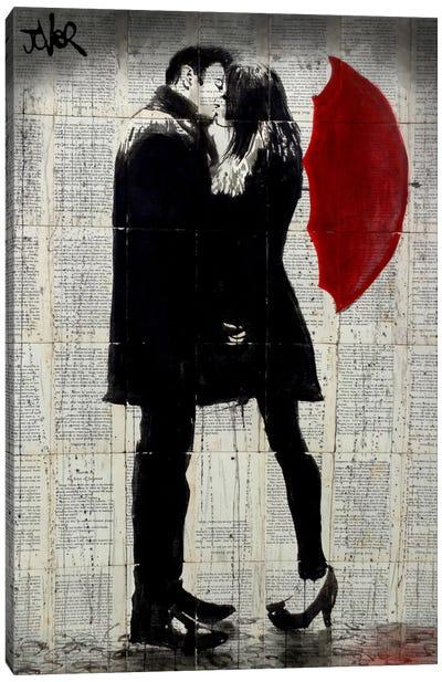 Winter's Kiss Canvas Print #LJR144