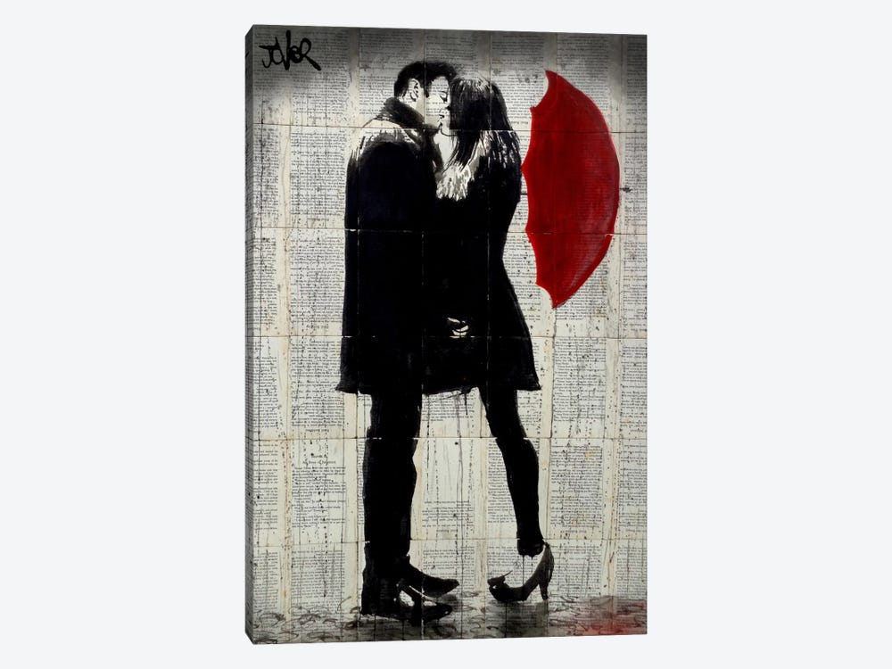 Winter's Kiss by Loui Jover 1-piece Canvas Wall Art