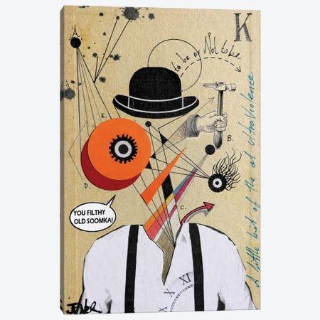 A Clockwork Soomka (Homage to Kubrick) Canvas Print #LJR146} by Loui Jover Art Print