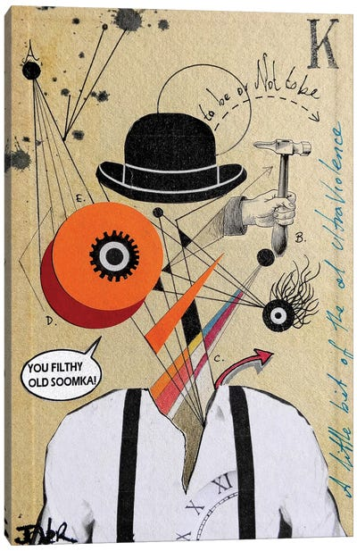 A Clockwork Soomka (Homage to Kubrick) Canvas Art Print