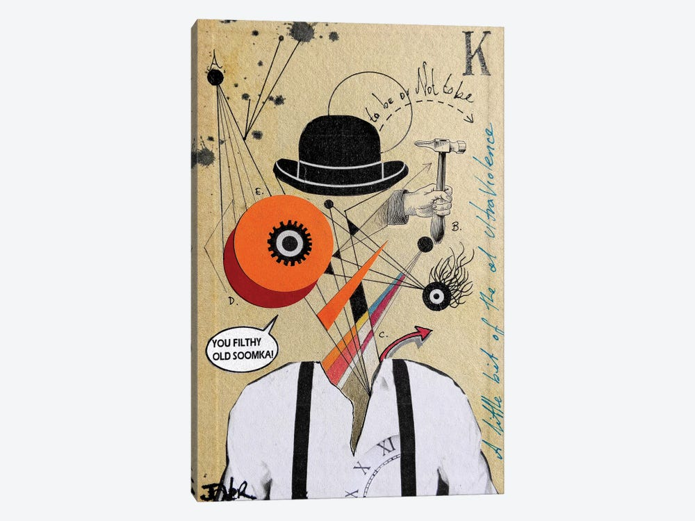 A Clockwork Soomka (Homage to Kubrick) by Loui Jover 1-piece Canvas Artwork