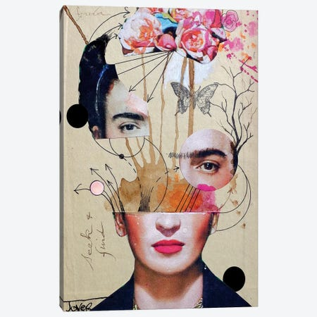 Frida For Beginners Canvas Print #LJR148} by Loui Jover Canvas Artwork