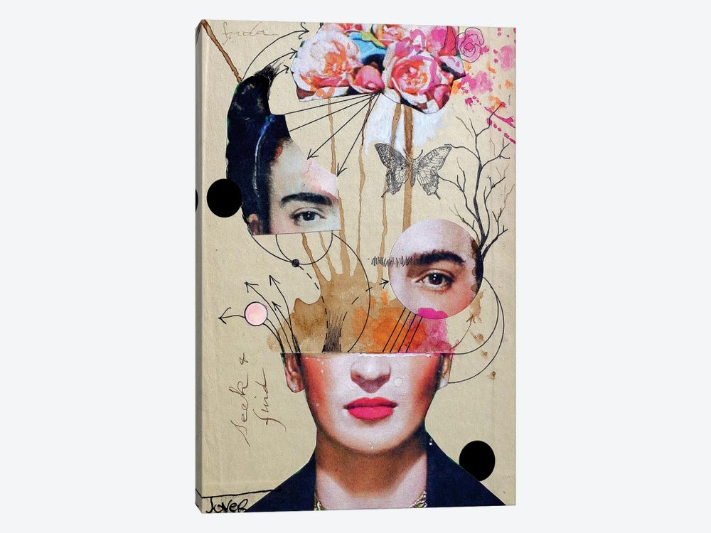 Frida For Beginners by Loui Jover 1-piece Canvas Wall Art