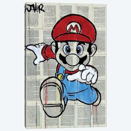 M Canvas Print #LJR149} by Loui Jover Canvas Wall Art