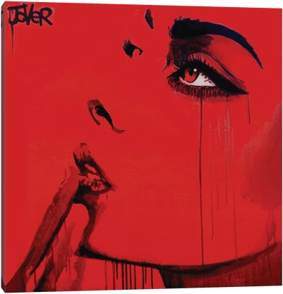 Never Know (red) Canvas Art Print