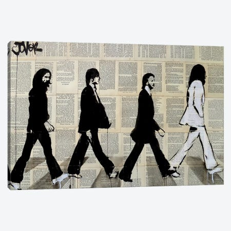 The Crossing Of Abbey Road Canvas Print #LJR153} by Loui Jover Art Print