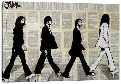 The Crossing Of Abbey Road Canvas Art Print