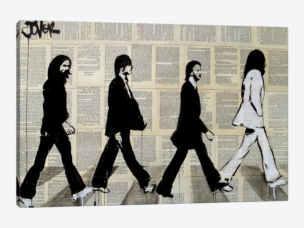 The Crossing Of Abbey Road by Loui Jover 1-piece Canvas Wall Art
