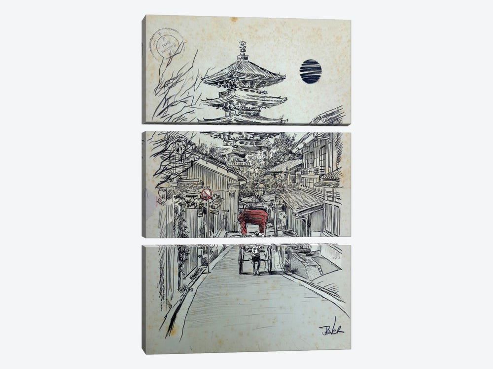 Another Kyoto Moment by Loui Jover 3-piece Canvas Art Print