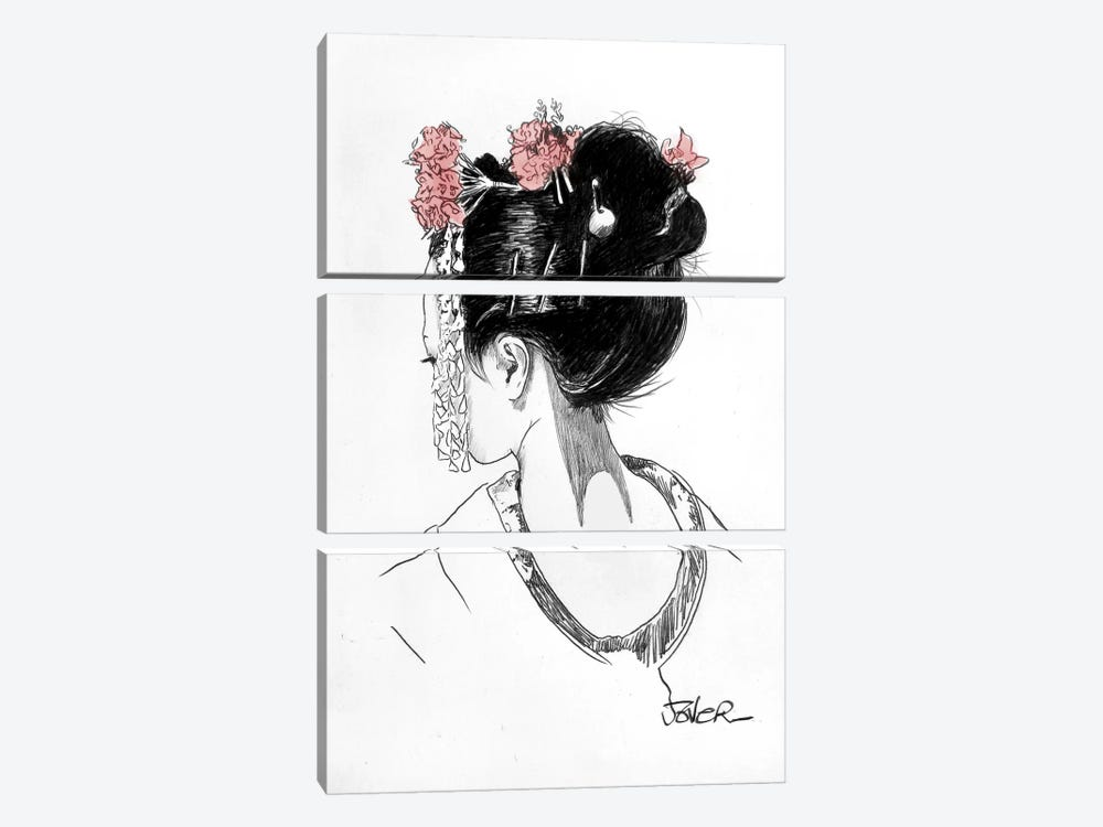 Atsuko by Loui Jover 3-piece Canvas Art