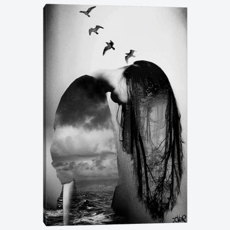 Forest, Sea And Sky Canvas Print #LJR163} by Loui Jover Canvas Wall Art