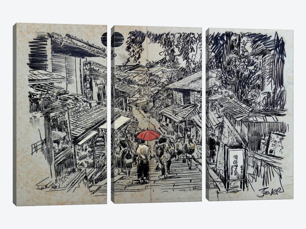 Kyoto Moment by Loui Jover 3-piece Canvas Art