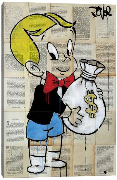 Little Rich Kid Canvas Art Print