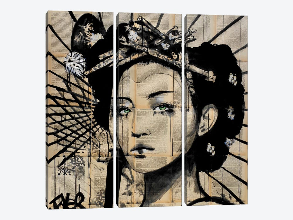 Lotus by Loui Jover 3-piece Canvas Wall Art