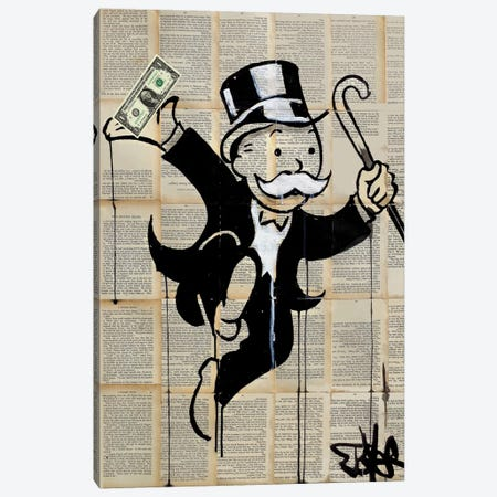 Money Man Canvas Print #LJR173} by Loui Jover Canvas Print