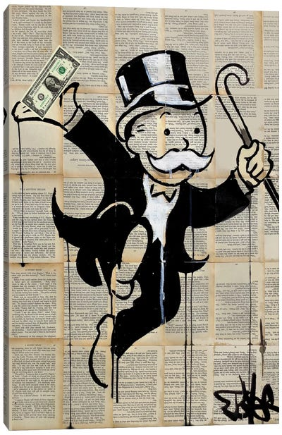 Money Man Canvas Art Print