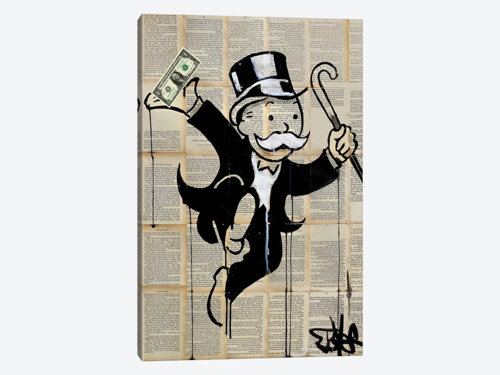 Money Man by Loui Jover 1-piece Canvas Art