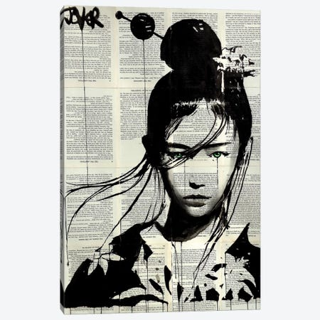 Narumi Canvas Print #LJR175} by Loui Jover Canvas Artwork
