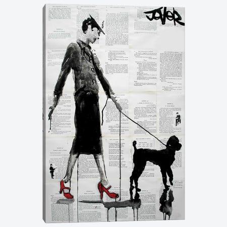 Poodle Canvas Print #LJR178} by Loui Jover Canvas Art Print