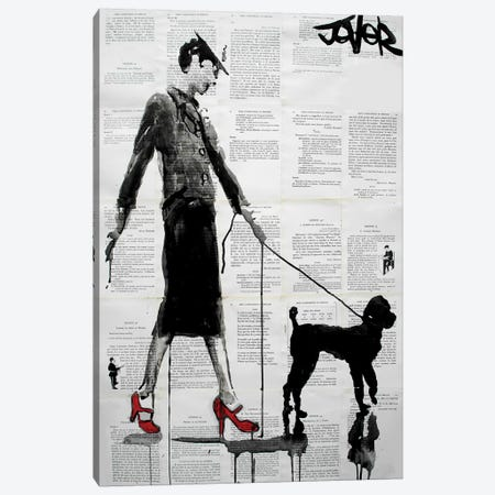 Poodle Canvas Print #LJR178} by Loui Jover Canvas Art Print