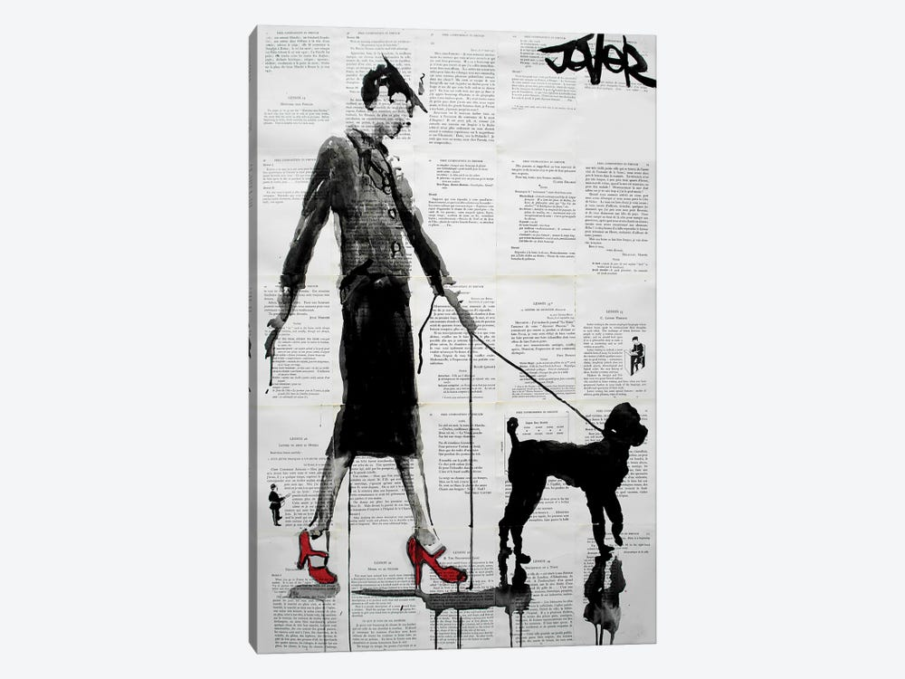 Poodle by Loui Jover 1-piece Canvas Art Print