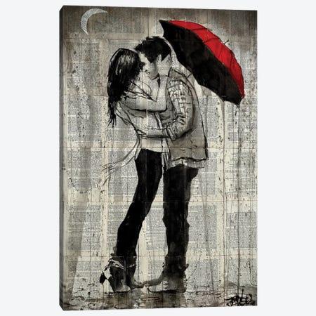 Rainfall Kisses Canvas Print #LJR179} by Loui Jover Canvas Print
