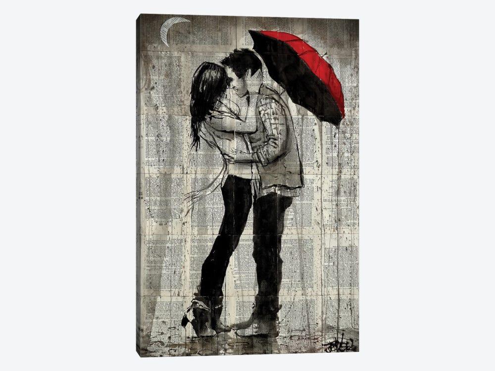Rainfall Kisses by Loui Jover 1-piece Canvas Wall Art