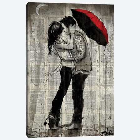 Rainfall Kisses Canvas Print #LJR179} by Loui Jover Canvas Print