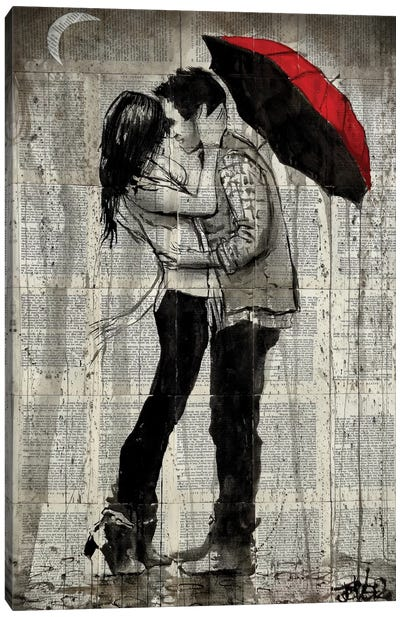 Rainfall Kisses Canvas Print #LJR179