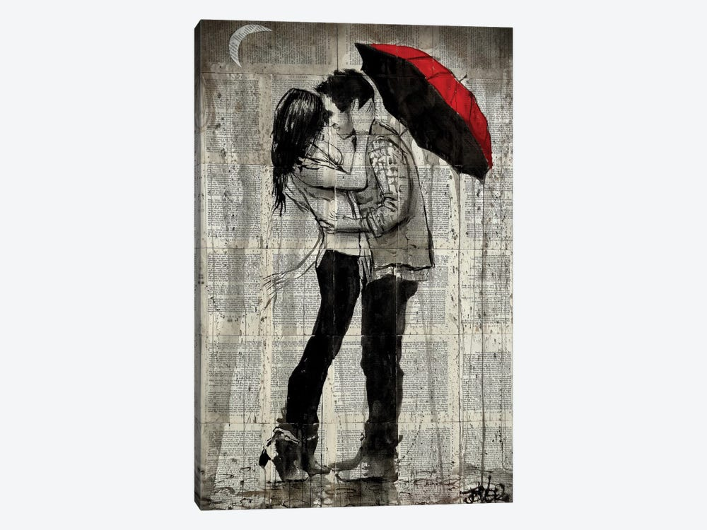 Rainfall Kisses by Loui Jover 1-piece Canvas Wall Art
