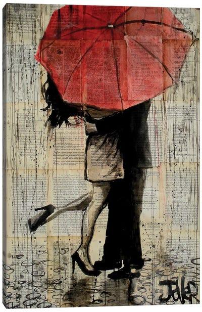 Red Umbrella Canvas Print #LJR180