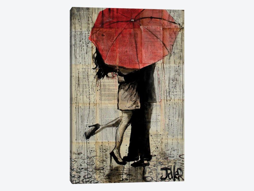 Red Umbrella Canvas Art by Loui Jover   iCanvas