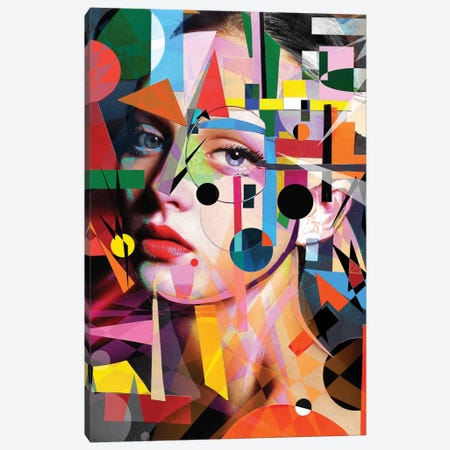 She Loves Colors Canvas Print #LJR182} by Loui Jover Canvas Art