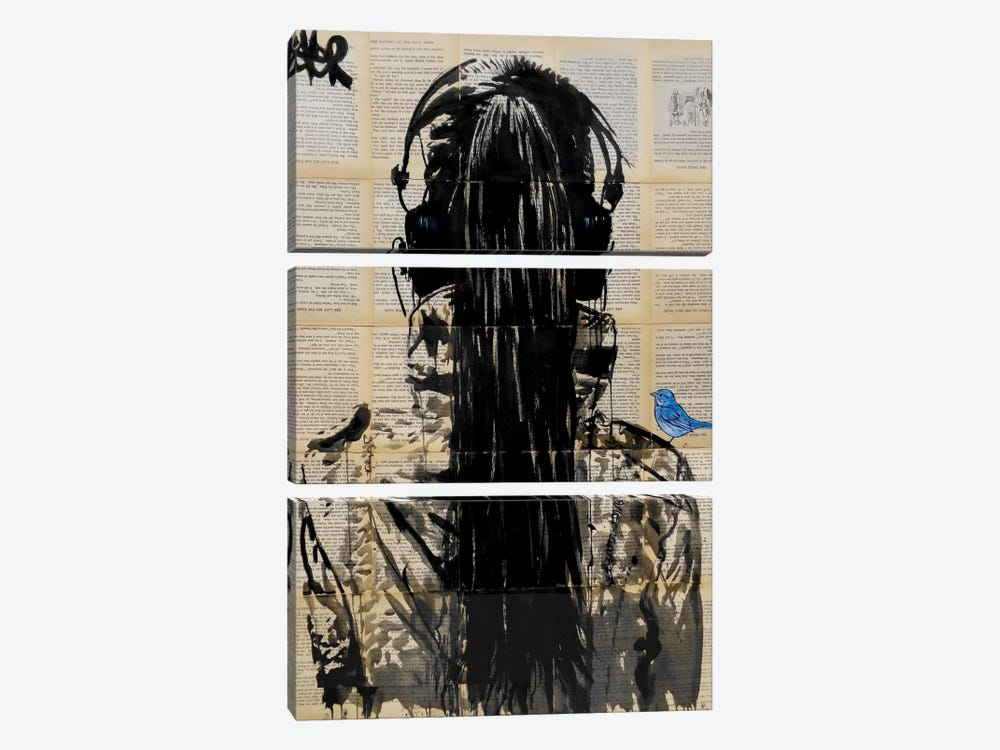 Sonic by Loui Jover 3-piece Canvas Art