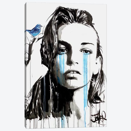 For You Blue Canvas Print #LJR195} by Loui Jover Canvas Artwork