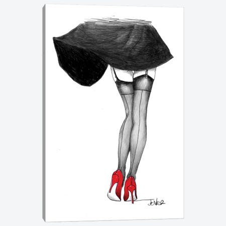 Happy Feet Canvas Print #LJR197} by Loui Jover Canvas Art