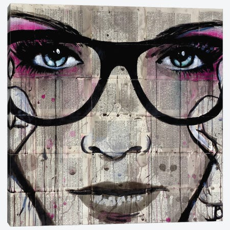 Specs Canvas Print #LJR19} by Loui Jover Art Print