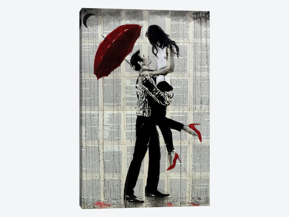 Love Rain by Loui Jover 1-piece Canvas Wall Art