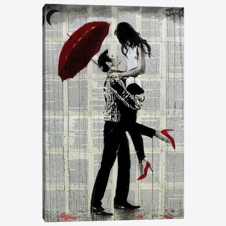 Love Rain 3-Piece Canvas #LJR202} by Loui Jover Canvas Print