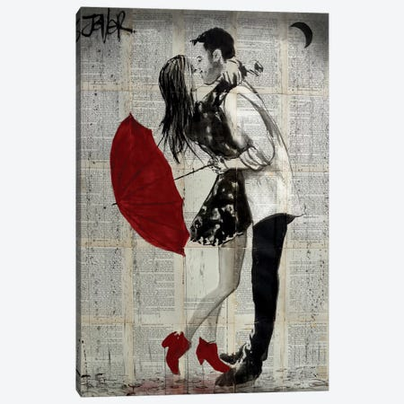 Never Mind The Rain Canvas Print #LJR203} by Loui Jover Canvas Print
