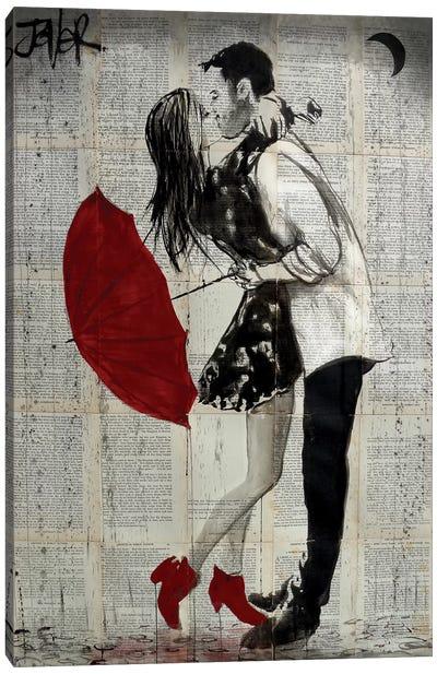 Never Mind The Rain Canvas Art Print