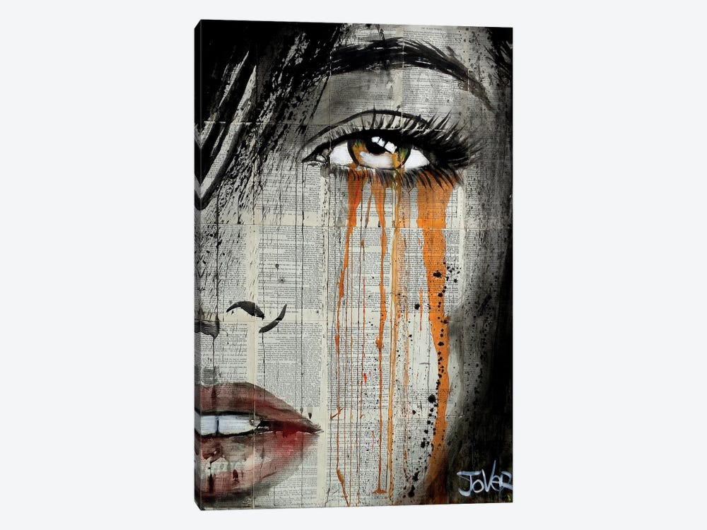 Orange Crush by Loui Jover 1-piece Canvas Wall Art