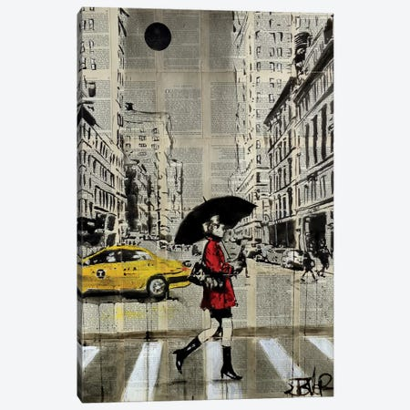Red Coat Canvas Print #LJR209} by Loui Jover Canvas Art Print
