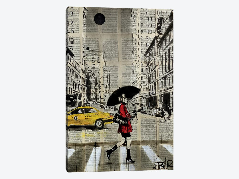 Red Coat by Loui Jover 1-piece Canvas Print
