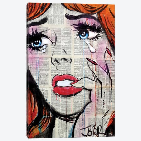 Retro Pop Tears Canvas Print #LJR225} by Loui Jover Canvas Art