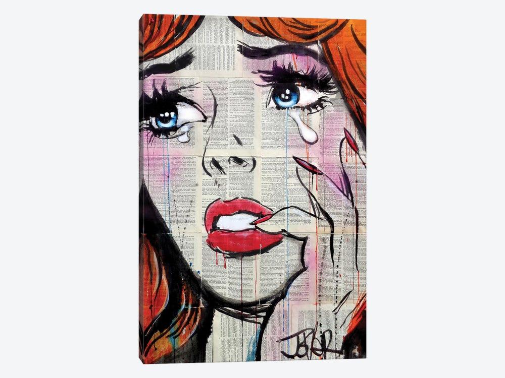 Retro Pop Tears by Loui Jover 1-piece Canvas Art Print